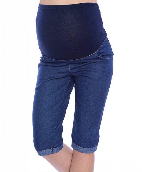 MijaCulture - spodnie rybaczki ciążowe 4015/ M35 denim blue 1