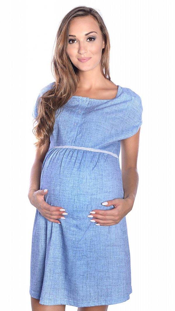 MijaCulture - 2 w 1 koszula nocna i do karmienia M 40/4025 niebieski 2