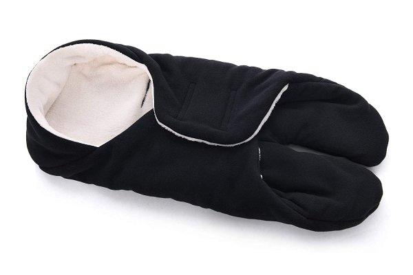 MijaCulture Polarowy otulacz do fotelika nosidła 4126 czarny2