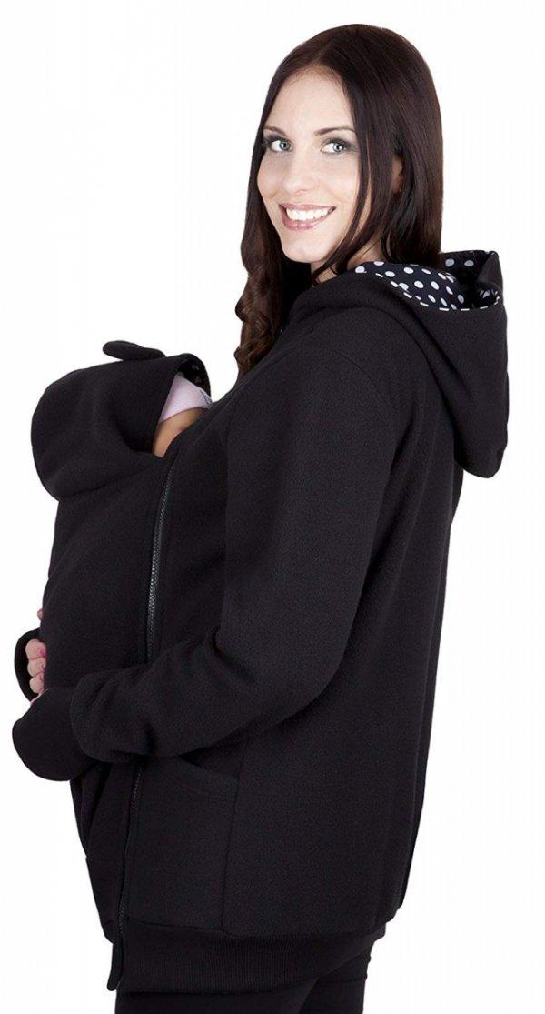 bluza polarowa do noszenia dziecka 4019A/M21 czarny 2