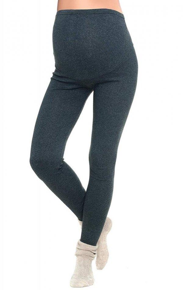 Komfortowe legginsy ciążowe zimowe 3006 grafit 1
