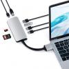 Satechi Dual Multimedia HUB USB-C / Ethernet/2 xHDMI/2xUSB 3.0/USB-C(PD)/SD/microSD/Silver