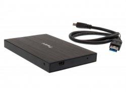 Dysk zewnętrzny 500GB 2,5 USB 3.0 Aluminium Czarny + Etui HGST