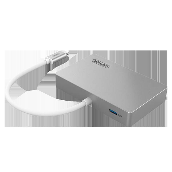 Unitek USB-C Multiport HUB HDMI / USB 3.0 / USB-C (Power delivery) Space Gray