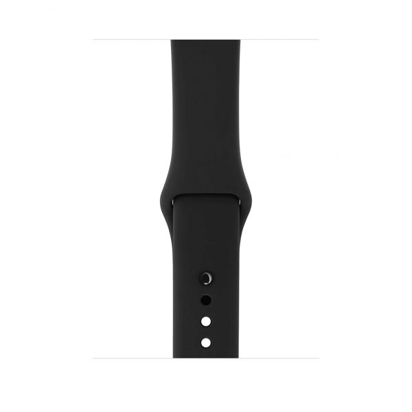 Apple Watch Series 3 / GPS + LTE / Koperta 42mm z aluminium w kolorze gwiezdnej szarości / Pasek sportowy w kolorze czarnym