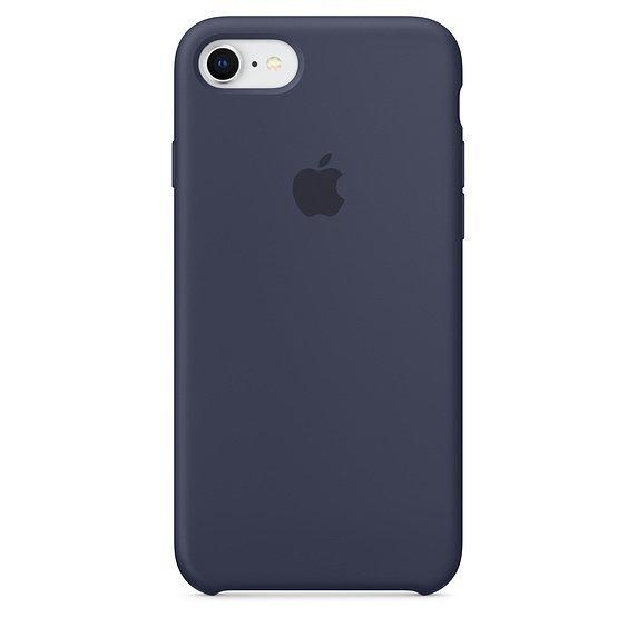 Apple Silicon Case Etui do iPhone 7/8 Midnight Blue (nocny błękit)