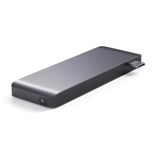 Satechi USB-C Pass Through HUB - 2xUSB 3.0 / USB-C (PD) / SD / microSD / Space Gray (gwiezdna szarość)
