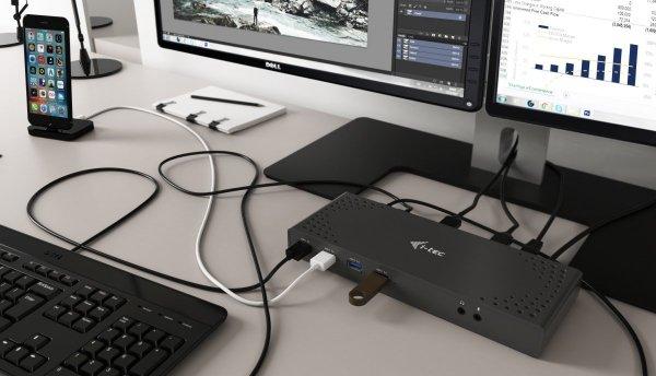 i-tec USB 3.0/USB-C 5K uniwersalna Stacja Dokująca Dual Display - 4K 60Hz video/HDMI/Display Port/Ethernet