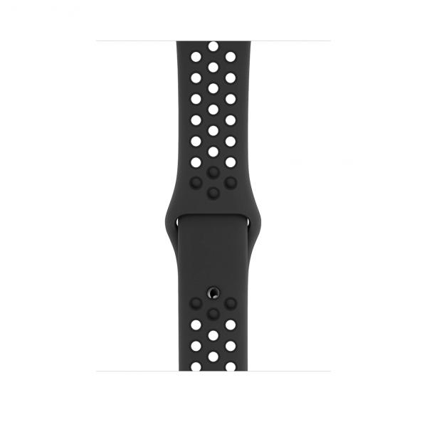 Apple Watch Nike+ Series 4 / GPS + LTE / Koperta 44mm z aluminium w kolorze gwiezdnej szarości / Pasek sportowy Nike w kolorze antracytu/czarnym