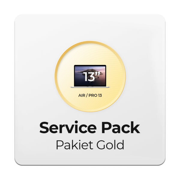 Service Pack - Pakiet Gold 2Y do Apple MacBook Air i Pro 13 - 2 letni okres ochrony