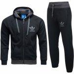 Adidas Originals męski sportowy czarny dres komplet AB7588/AB7582