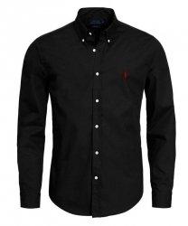 Ralph Lauren koszula męska gładka slim fit czarna