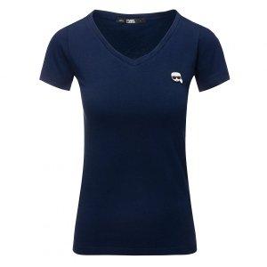 Karl Lagerfeld  t-shirt koszulka damska granatowa
