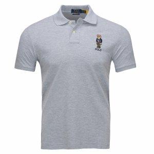 Ralph Lauren Miś Teddy Bear koszulka polo polówka męska Slim Fit szara