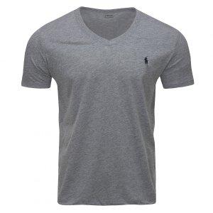 Polo Ralph Lauren koszulka t-shirt męski V-neck slim fit szara