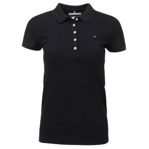 Tommy Hilfiger koszulka polo polówka damska Slim Fit czarna