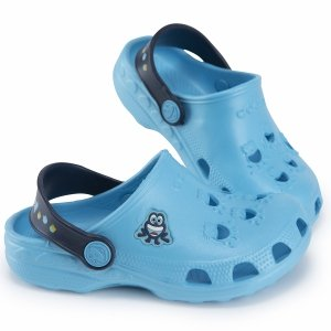 Buty Coqui Froggy sandały klapki dziecięce niebieskie