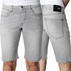 Pepe Jeans krótkie spodnie męskie szorty jeansowe szare PM800505-000