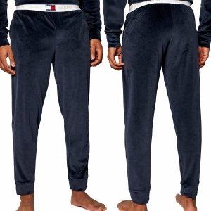 Tommy Hilfiger spodnie dresowe welurowe welur męskie granatowe