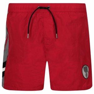 Karl Lagerfeld spodenki szorty męskie czerwone KL20MBM07