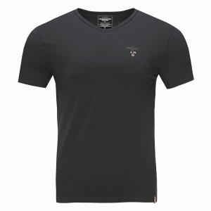 Aeronautica Militare t-shirt koszulka v-neck męska czarna