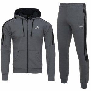 Adidas męski sportowy dres komplet szary