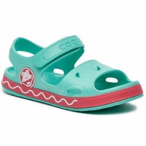 Coqui Little Frog buty dziecięce sandały Fobee 8852 Mint New Rouge