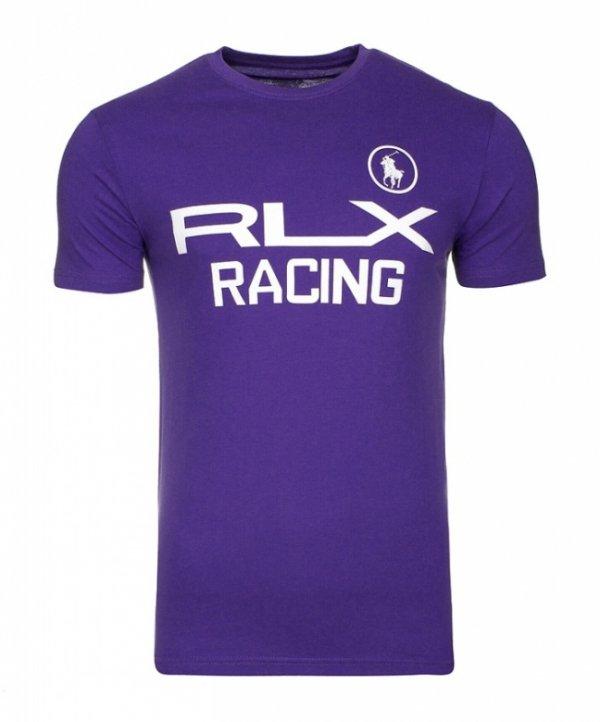 T-shirt męski Ralph Lauren fioletowy