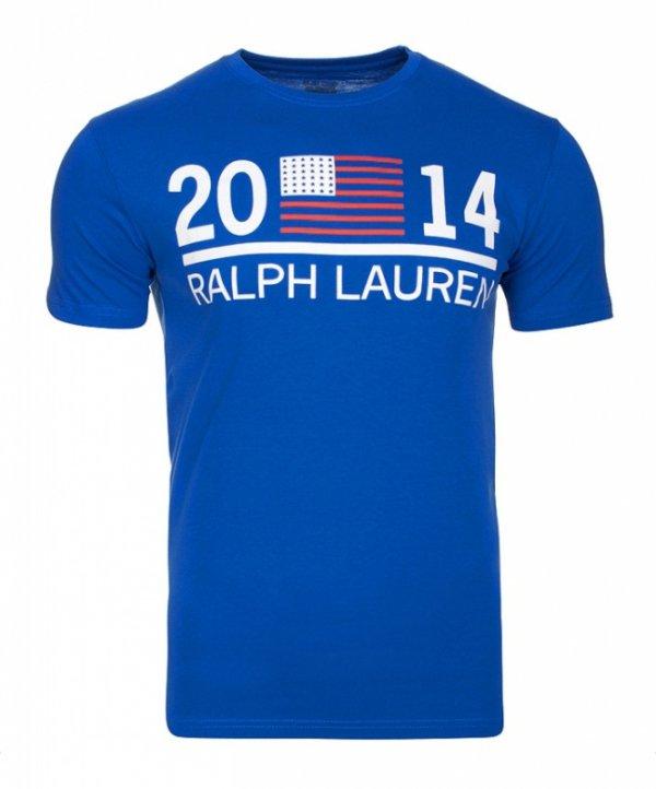 T-shirt męski Ralph Lauren niebieski