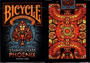 Bicycle Phoenix Stained Glass
