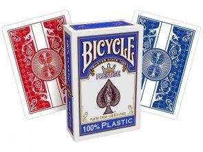 Karty Bicycle - Prestige 100% plastik - otwarte pudełko