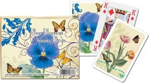 Karty Piatnik Niebieskie kwiaty