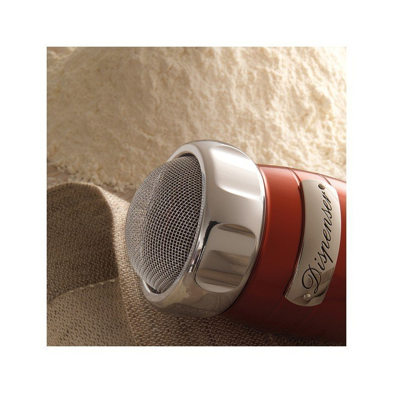 Przesiewacz do mąki Dispenser czerwony, firmy Marcato