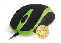 Mysz optyczna 800dpi czarno-zielona MT1091G