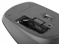 Mysz bezprzewodowa Merlin nano 2.4GHz 1600 DPI czarna