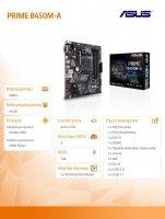 Płyta główna PRIME B450M-A AM4 4DDR4 HDMI/DVI/DSUB/M.2 UATX