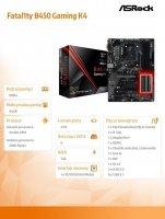 Płyta główna Fatal1ty B450 Gaming K4 AM4 4DDR4 HDMI/DP ATX