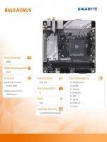 Płyta główna B450 I AORUS PRO WIFI AM4 2DDR4 DP/HDMI/M.2 ITX