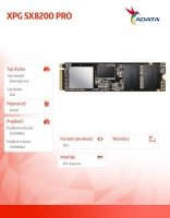 Dysk XPG SX8200 PRO 512GB PCIe 3.3/2.4 GB/s M.2