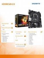 Płyta główna H310M S2H 2.0 2DDR4 s1151 HDMI/DVI u-ATX