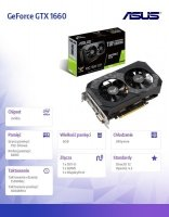 Karta graficzna GeForce GTX 1660 TUF GAMING OC 6GB 192BIT GDDR5 HDMI/DVI-D/DP