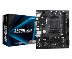 Płyta ASRock A520M-HDV/AMD A520M/DDR4/SATA3/M.2/USB3.1/PCIe3.0/AM4/mATX