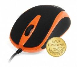 Mysz optyczna 800dpi czarno-pomaranczowa MT1091O