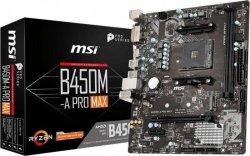 Płyta główna B450M-A PRO MAX AM4 2DDR4 DVI/HDMI M.2 uATX