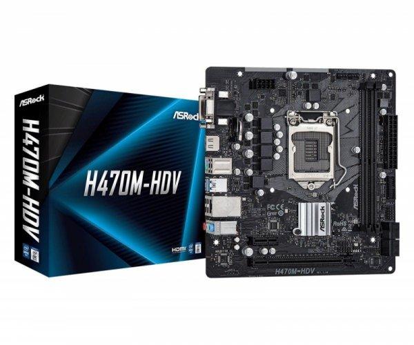Płyta ASRock H470M-HDV /H470/DDR4/SATA3/USB3.1/PCIe3.0/s.1200/mATX