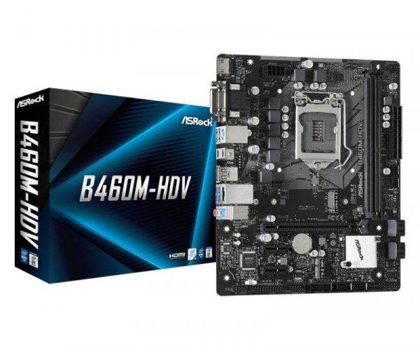 Płyta ASRock B460M-HDV /B460/DDR4/SATA3/M.2/USB3.1/PCIe3.0/s.1200/mATX