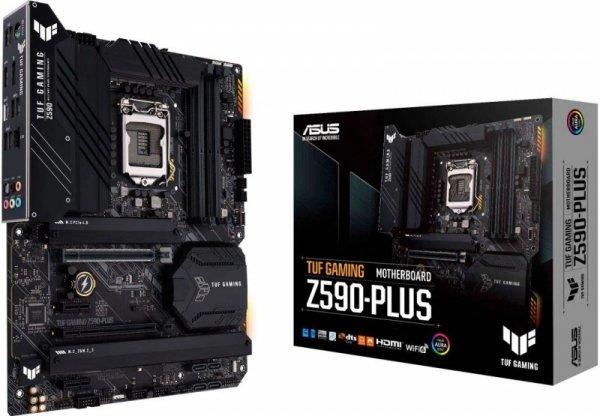 Płyta Asus TUF GAMING Z590-PLUS /Z590/DDR4/SATA3/M.2/USB3.2/PCIe4.0/s.1200/ATX