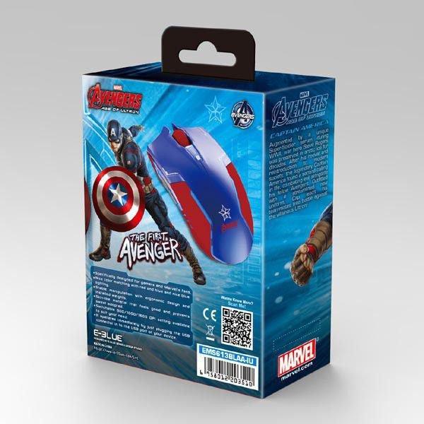 Mysz optyczna E-Blue Avengers Capitan America (49067)