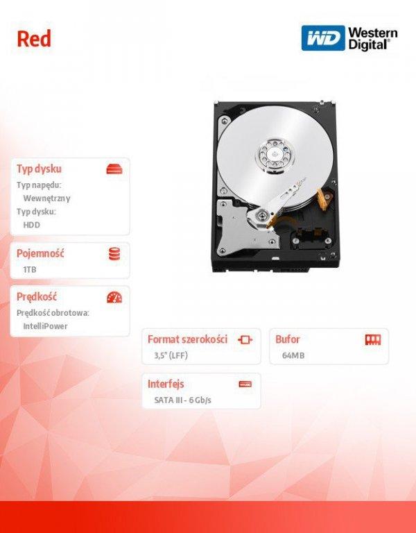 WD Red Plus 1TB 3,5'' CMR 64MB / 5400RPM Class