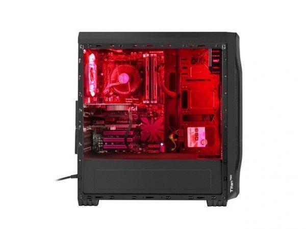 Obudowa Genesis Titan 750 USB 3.0 z oknem czerwone podświetlenie